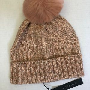 Love & Lore Micro Marl Pom Hat in Sparkling Rose